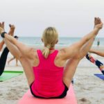 Yoga on the beach in Hua Hin