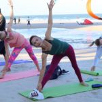 Yoga on the beach in HuaHin