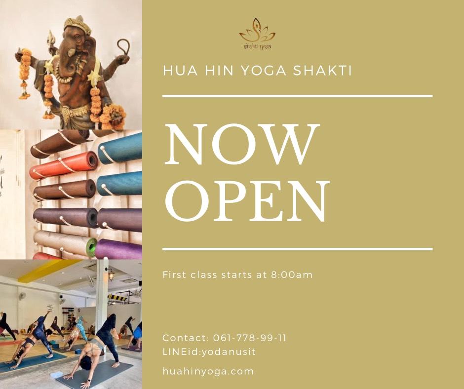 Shakti Yoga Hua Hin is open